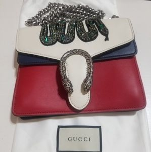 Gucci Dionysus Mini Crystal Embroidered Snake